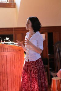 Dr Dorcinda Knauth speaking at Vassar, 2013